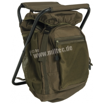 OD Backpack With Stool - Olive Green 20 l
