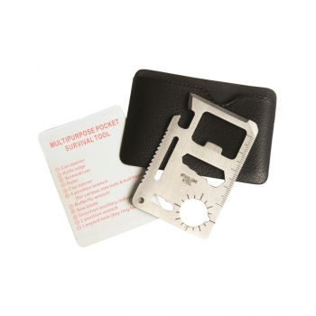 Survival Tool Card With Pouch