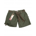 Women Army Shorts - Olive