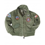 CWU Kids Flight Jacket Witch Patches