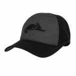 LOGO CAP - POLYCOTTON RIPSTOP - BLACK / SHADOW GREY