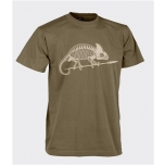 T-Shirt (Chameleon skeleton) - Cotton - Coyote