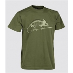 T-Shirt (Chameleon skeleton) - US Green
