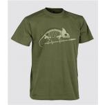 T-särk Helikoni logoga - US Green