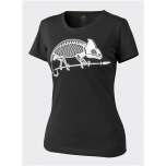 Women's T-Shirt/ Chameleon - black