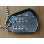 Dog Tag (with stamping) - Stainless Steel