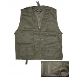OD Hunting And Fishing Vest With Mesh Lining - Olive