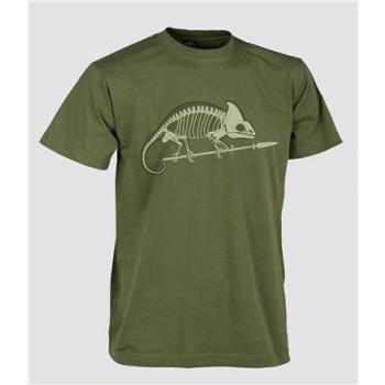 T-Shirt (Chameleon skeleton) - US Green