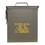 US LARGE AMMO BOX STEEL M9 CAL 50