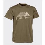 T-Shirt (Chameleon skeleton) - Cotton - Coyote